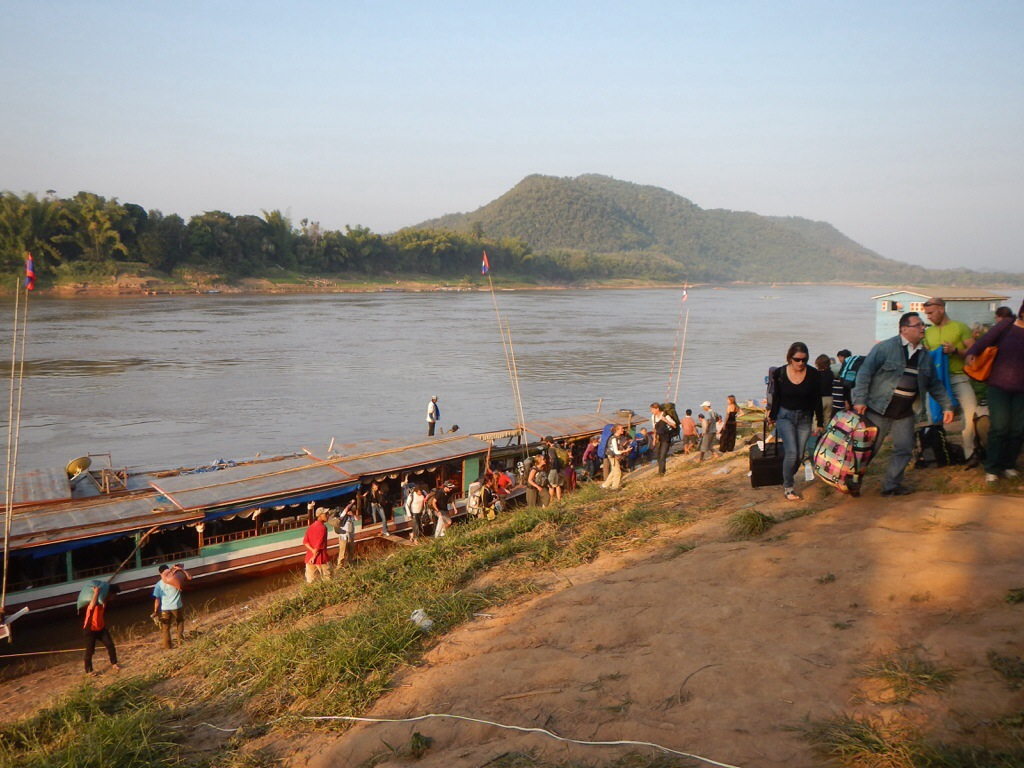 "Disembarking at ""Luang Prabang"""