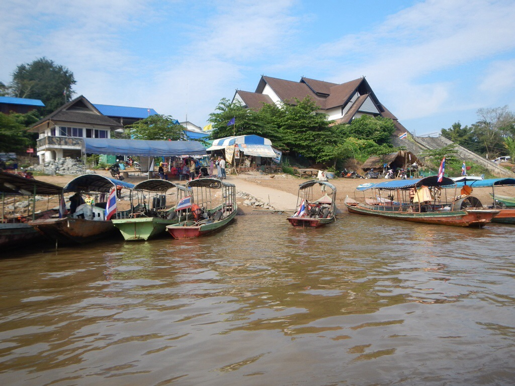 Arrival to the Laotian side of the Mekong