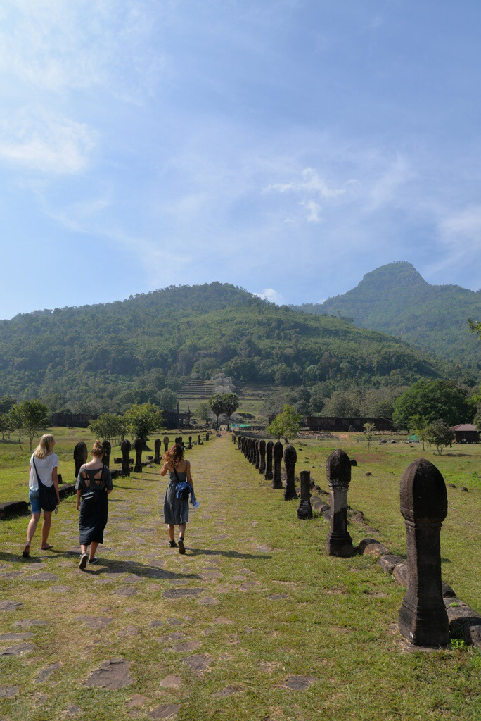 Walking an ancient road towards the temple